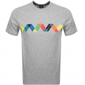 PS By Paul Smith Multi Spiral T Shirt Grey