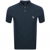 PS By Paul Smith Zebra Polo T Shirt Navy