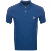 PS By Paul Smith Zebra Polo T Shirt Blue