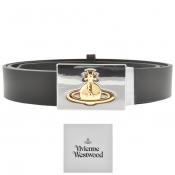 Vivienne Westwood Square Buckle Leather Belt Black