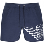 Product Image for Emporio Armani Logo Swim Shorts Navy
