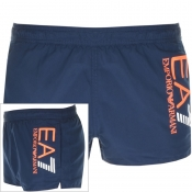 EA7 Emporio Armani Colour Block Swim Shorts Navy