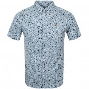 Product Image for Farah Vintage Short Sleeve Babilonia Shirt Blue