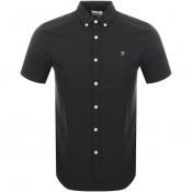 Farah Vintage Short Sleeved Brewer Shirt Black