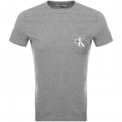 Calvin Klein Monogram Pocket T Shirt Grey