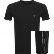 Emporio Armani Crew Neck Tape T Shirt Black