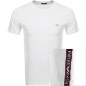 Emporio Armani Crew Neck Tape T Shirt White