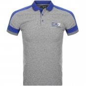 Product Image for EA7 Emporio Armani Logo Polo T Shirt Grey