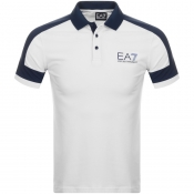 Product Image for EA7 Emporio Armani Logo Polo T Shirt White
