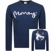 Money Chrome Ape Logo Sweatshirt Navy