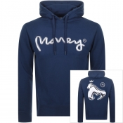 Money Chrome Sig Ape Hoodie Navy