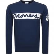 Money Block Sig Ape Logo Sweatshirt Navy