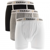 Product Image for Farah Vintage Elkington 3 Pack Boxer Shorts White