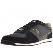 BOSS Athleisure Glaze Lowp Trainers Navy