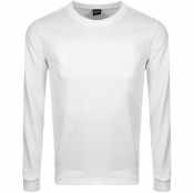 Product Image for BOSS HUGO BOSS Logo Sweatshirt White