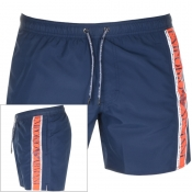 Product Image for Emporio Armani Taped Swim Shorts Navy