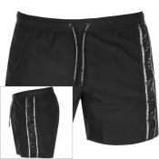 Emporio Armani Taped Swim Shorts Black