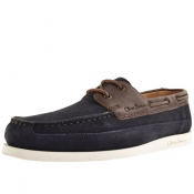 Product Image for Sweeney London Lufton Boat Shoes Navy