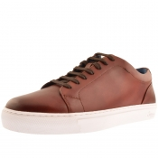 Sweeney London Hayle Leather Trainers Brown