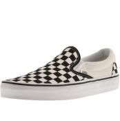 Vans Classic Slip On Checkboard Trainers Black