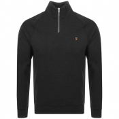 Product Image for Farah Vintage Jim Half Zip Sweatshirt Black