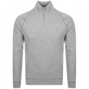 Product Image for Farah Vintage Jim Half Zip Sweatshirt Grey