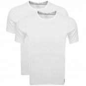 Calvin Klein 2 Pack Crew Neck T Shirts White