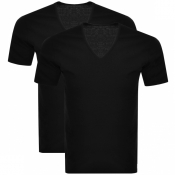Product Image for Calvin Klein 2 Pack V Neck T Shirts Black