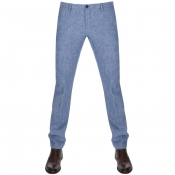 Product Image for BOSS HUGO BOSS Stanino 16 W Linen Trousers Blue