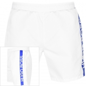 BOSS HUGO BOSS Dolphin Swim Shorts White