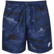 Product Image for Nike Camouflage Logo Swim Shorts Navy