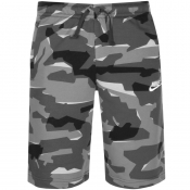 Nike Standard Club Camouflage Shorts Grey