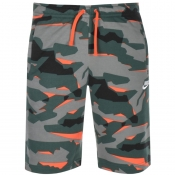 Nike Standard Club Camouflage Shorts Green