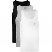 Product Image for Farah Vintage Vestu 3 Pack Vest T Shirts Black