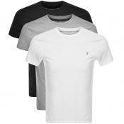 Product Image for Farah Vintage Merion 3 Pack T Shirts Black