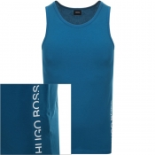 BOSS HUGO BOSS Logo Vest T Shirt Blue