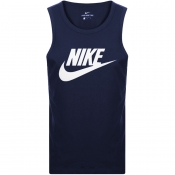 Product Image for Nike Futura Icon Logo Vest T Shirt Navy