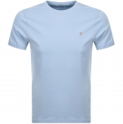 Product Image for Farah Vintage Denny Slim T Shirt Blue