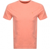 Farah Vintage Denny Slim Marl T Shirt Orange