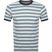 Product Image for Farah Vintage Belgrove Stripe T Shirt Blue