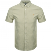 Farah Vintage Short Sleeved Brewer Shirt Green