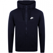 Nike Full Zip Club Hoodie Navy