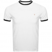 Farah Vintage Groves Ringer T Shirt White