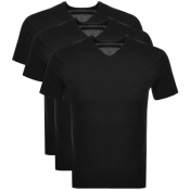 BOSS HUGO BOSS Triple Pack V Neck T Shirts Black