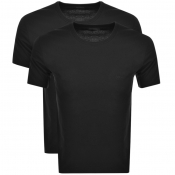 Product Image for BOSS HUGO BOSS 2 Pack Crew Neck T Shirts Black
