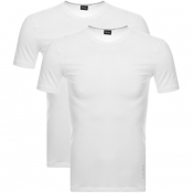 BOSS HUGO BOSS 2 Pack Crew Neck T Shirts White