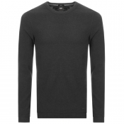 Product Image for BOSS Casual Long Sleeved Tempest T Shirt Black