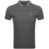 BOSS Casual Prime Polo T Shirt Grey