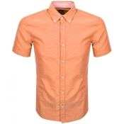 BOSS HUGO BOSS Roddy Short Sleeve Shirt Orange