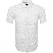 BOSS HUGO BOSS Ronn 2F Short Sleeve Shirt White